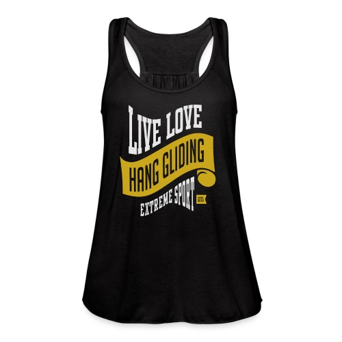 Live Love Hang Gliding Dark T-shirt - Women's Flowy Tank Top by Bella
