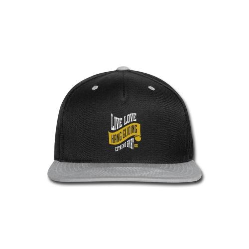 Live Love Hang Gliding Dark T-shirt - Snap-back Baseball Cap