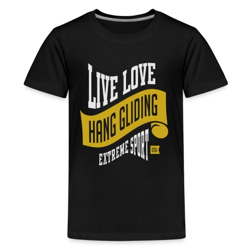 Live Love Hang Gliding Dark T-shirt - Kids' Premium T-Shirt