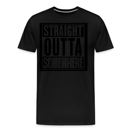 Inverted Straight Outta Somewhere Hoodie - Men's Premium T-Shirt