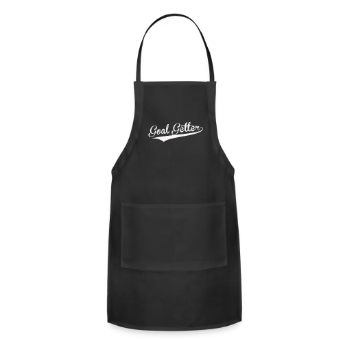 Goal Getter Tote bag-bag edge-Black - Adjustable Apron