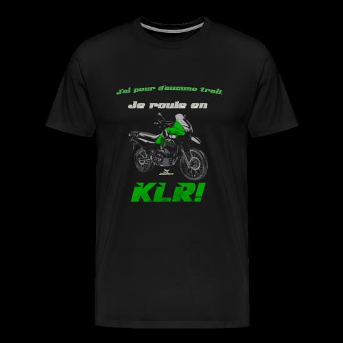 Je roule en KLR - Men's Premium T-Shirt