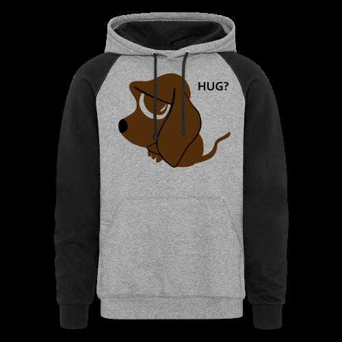 Sad Dog Sweater - Colorblock Hoodie