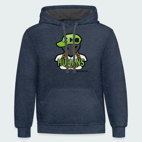 I H8 Humans - Contrast Hoodie