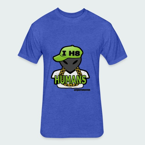 I H8 Humans - Fitted Cotton/Poly T-Shirt by Next Level