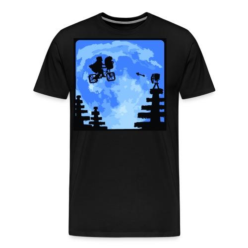 ET escapes Minecraft - Men's Premium T-Shirt