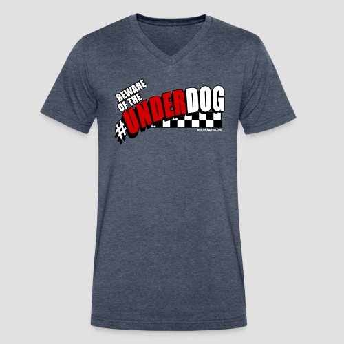 Men's Beware of the Underdog T - Men's V-Neck T-Shirt by Canvas