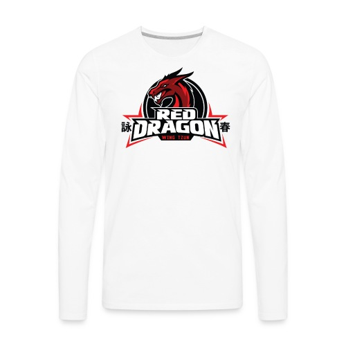Red Dragon Wing Tzun Logo Premium Tank Top - Men's Premium Long Sleeve T-Shirt