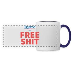 Bernie Sanders: Free Shit - Panoramic Mug