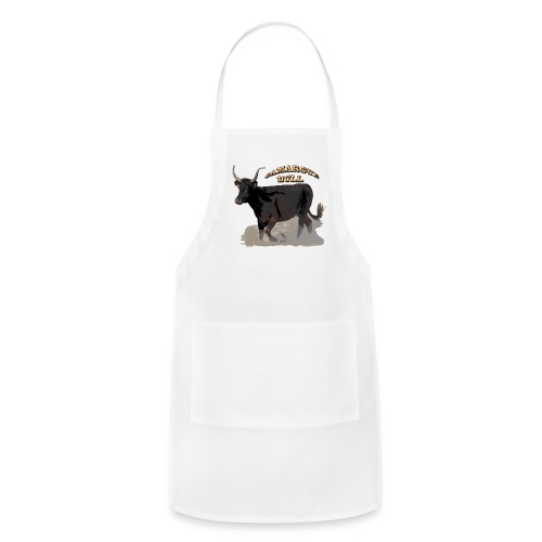 Camargue black bull   - Adjustable Apron