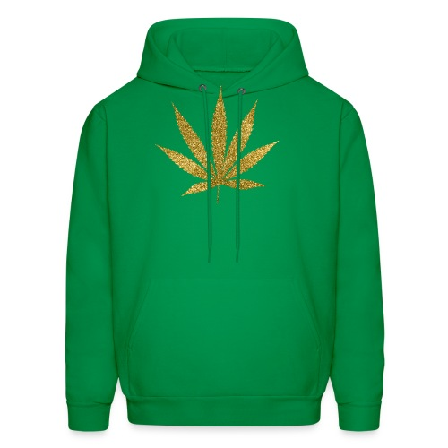 Gold Marijuana T-Shirt - Men's Hoodie