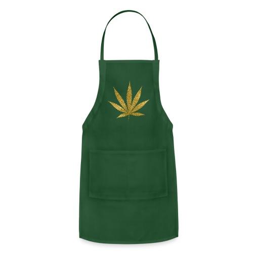 Gold Marijuana T-Shirt - Adjustable Apron