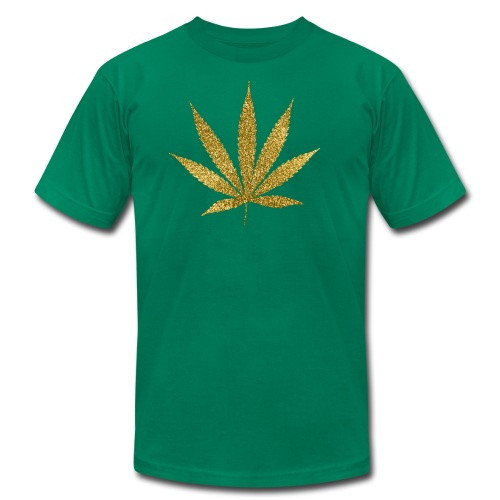 Gold Marijuana T-Shirt - Men's Fine Jersey T-Shirt