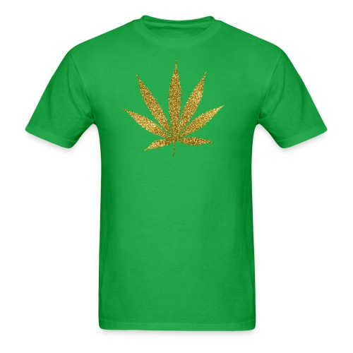 Gold Marijuana T-Shirt - Men's T-Shirt