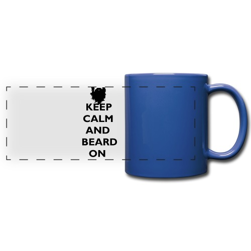 Keep Calm and Beard On Mug Black Print - Full Color Panoramic Mug