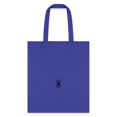 Keep Calm and Beard On Mug Black Print - Tote Bag