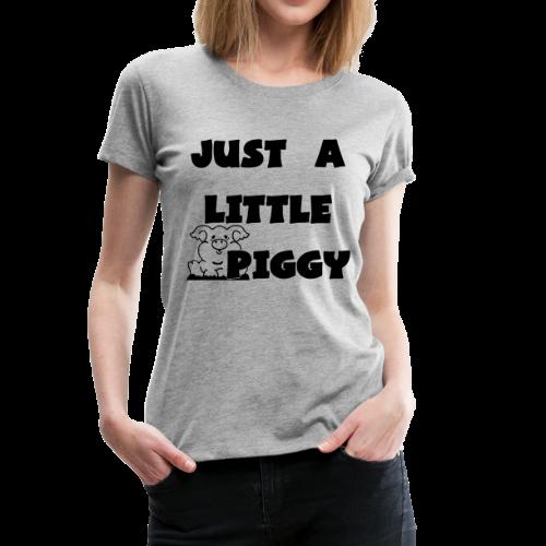 0212 - Lil Piggy  - Women's Premium T-Shirt