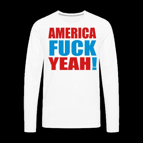 America F Yeah - Men's Premium Long Sleeve T-Shirt