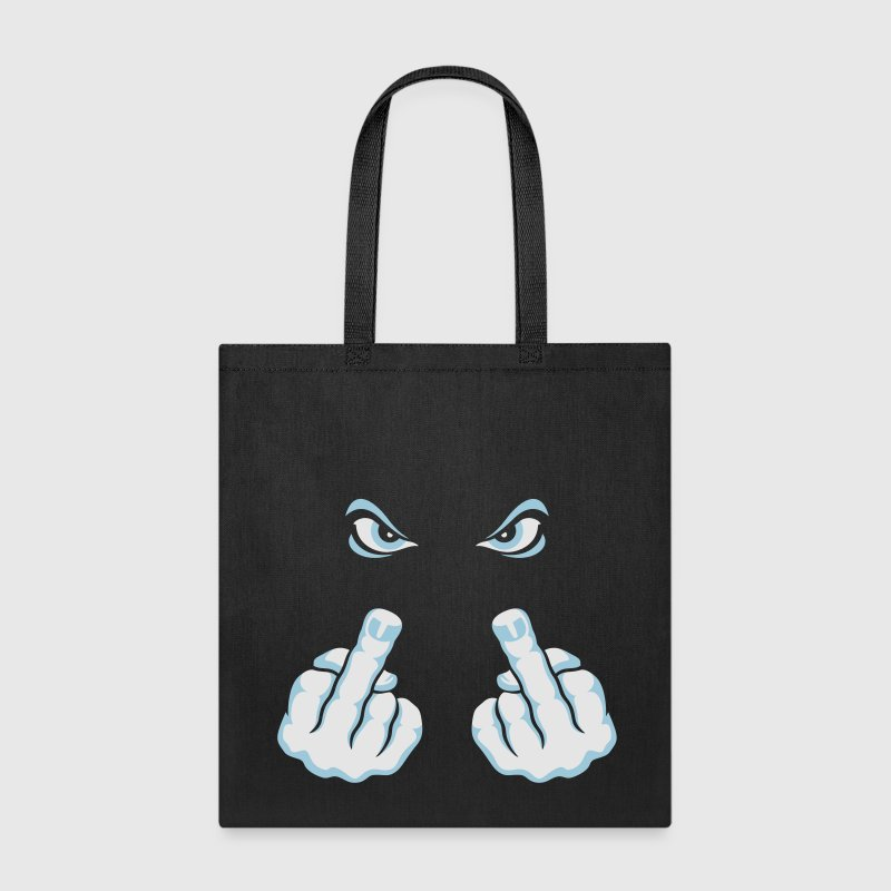 The Finger (Fuck Off / Fuck You) Bags & backpacks - Tote Bag