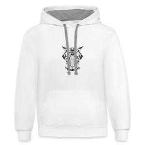 Men's Vibrant T/Shirt (Logo) White - Contrast Hoodie