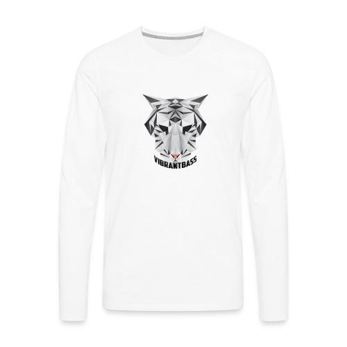 Men's Vibrant T/Shirt (Logo) White - Men's Premium Long Sleeve T-Shirt