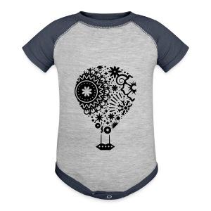 Hot Air Balloon Art - Premium Kid's T-Shirt - Baby Contrast One Piece