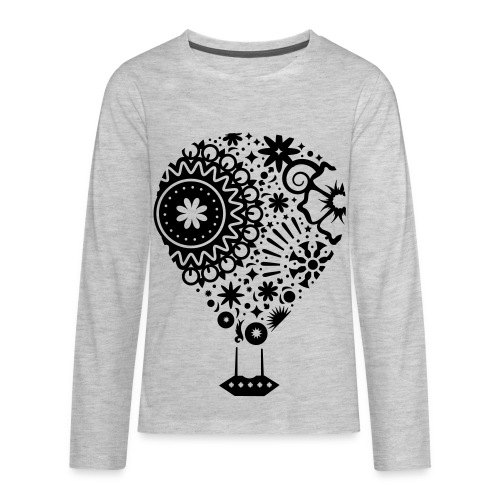 Hot Air Balloon Art - Premium Kid's T-Shirt - Kids' Premium Long Sleeve T-Shirt