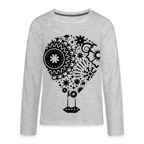 Hot Air Balloon Art - Premium Kid's T-Shirt - Kids' Premium Long Sleeve T-Shirt