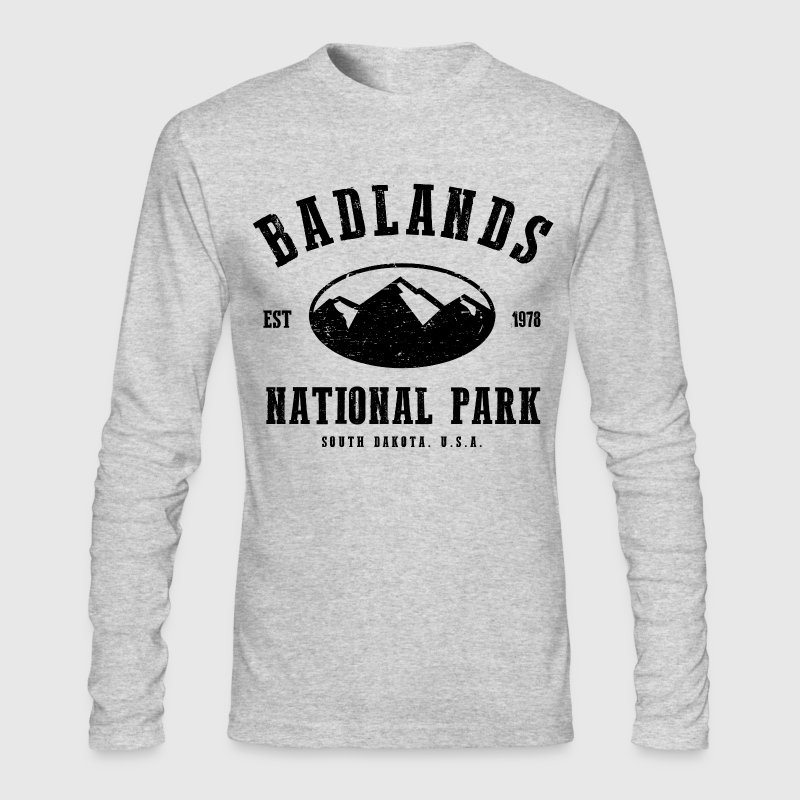 Badlands National Park Long Sleeve Shirts - Men's Long Sleeve T-Shirt by Next Level