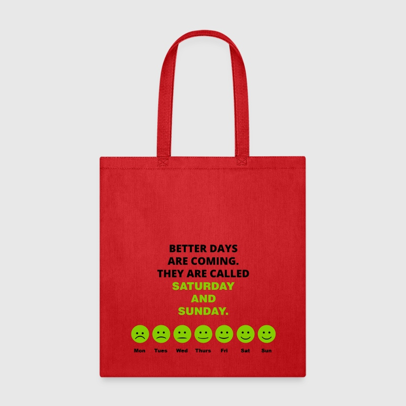 Happy Face for Each Day of the Week - Tote Bag