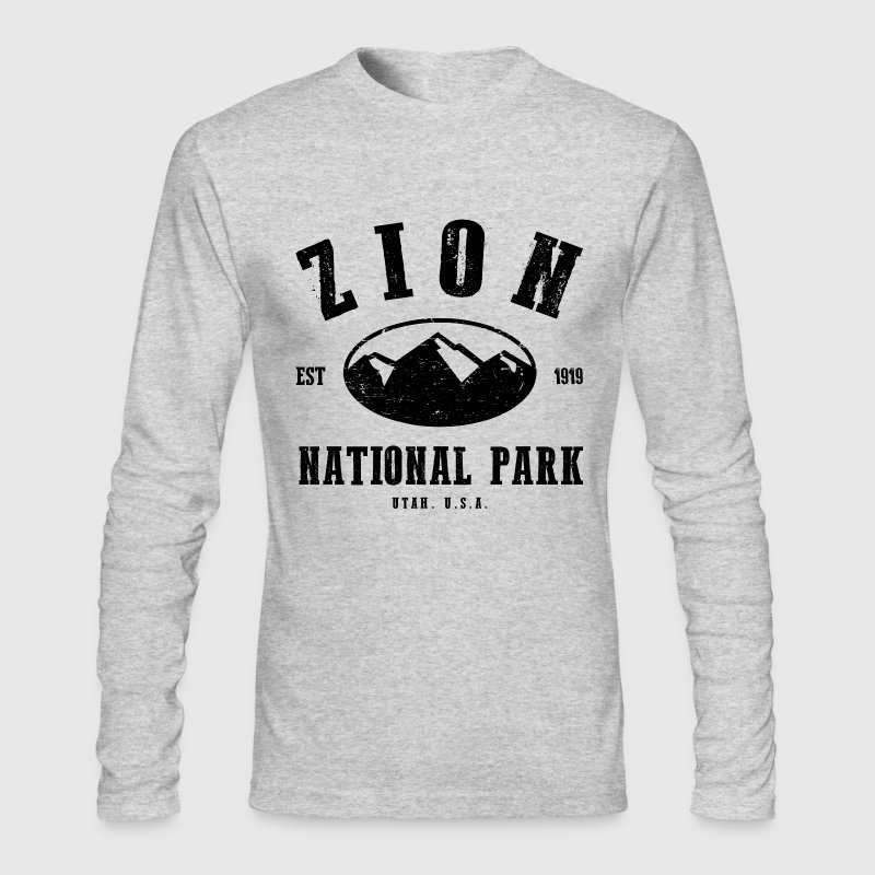 Zion National Park Long Sleeve Shirts - Men's Long Sleeve T-Shirt by Next Level