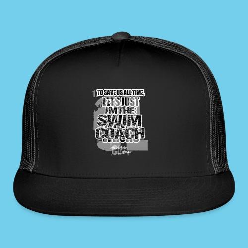 I'm the Swim Coach-Crew neck sweatshirt - Trucker Cap