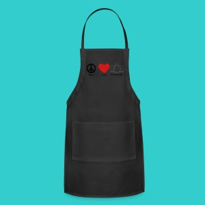 peace, love, photograph. - Adjustable Apron