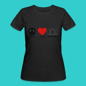 peace, love, photograph. - Women's 50/50 T-Shirt
