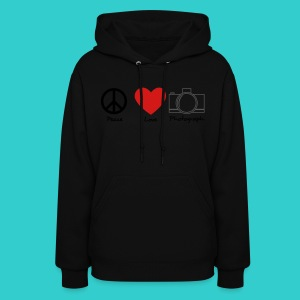 peace, love, photograph. - Women's Hoodie