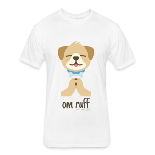 Om Ruff - Dog - Fitted Cotton/Poly T-Shirt by Next Level