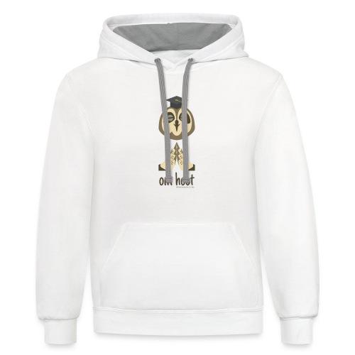 Om Hoot - Owl - Contrast Hoodie