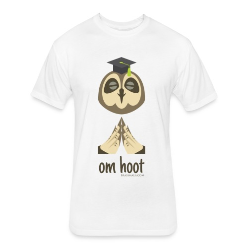 Om Hoot - Owl - Fitted Cotton/Poly T-Shirt by Next Level