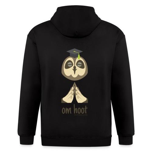 Om Hoot - Owl - Men's Zip Hoodie