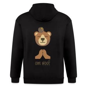 Om Woof - Bear - Men's Zip Hoodie