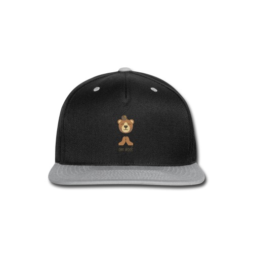 Om Woof - Bear - Snap-back Baseball Cap