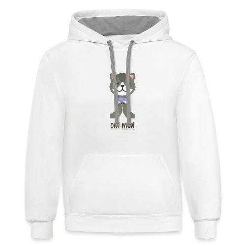 Om Mew - Cat - Contrast Hoodie