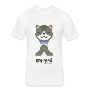Om Mew - Cat - Fitted Cotton/Poly T-Shirt by Next Level