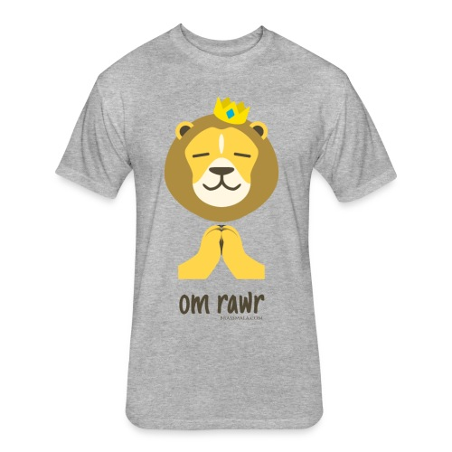 Om Rawr - Lion - Fitted Cotton/Poly T-Shirt by Next Level