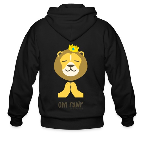 Om Rawr - Lion - Men's Zip Hoodie