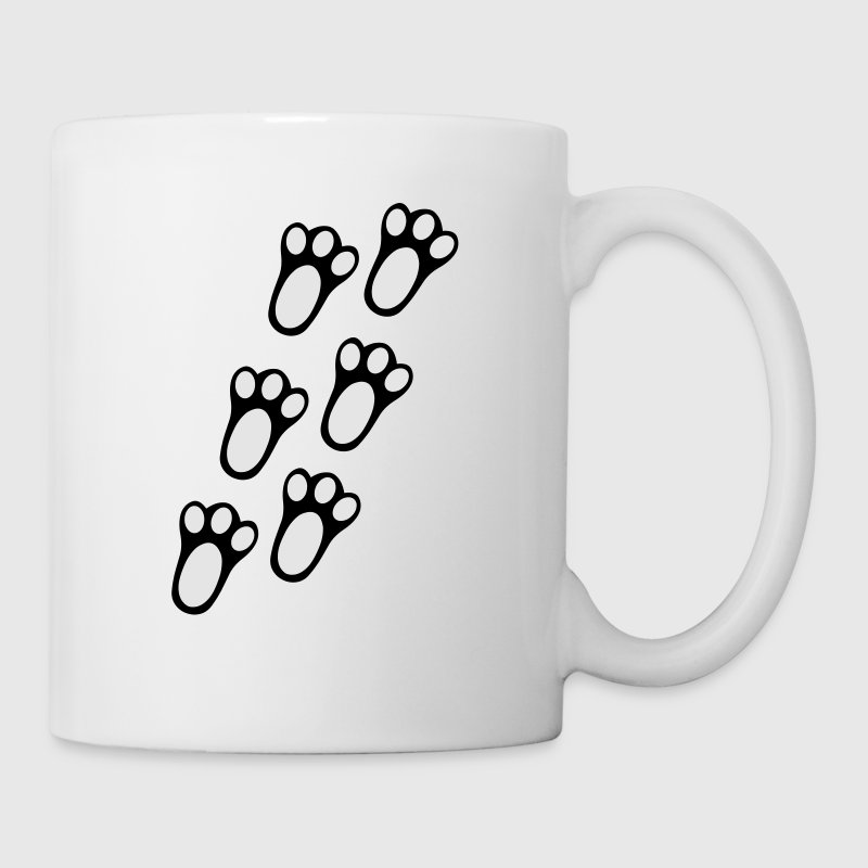 Rabbit Paw Track Mugs & Drinkware - Coffee/Tea Mug