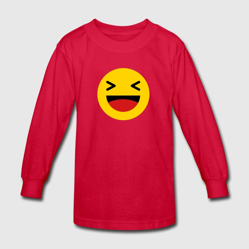 Haha funny emoticon Facebook Kids' Shirts - Kids' Long Sleeve T-Shirt