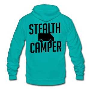 Stealth Camper - Unisex Fleece Zip Hoodie by American Apparel