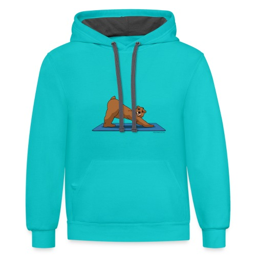 Oh So Yoga - Downward Dog - Contrast Hoodie