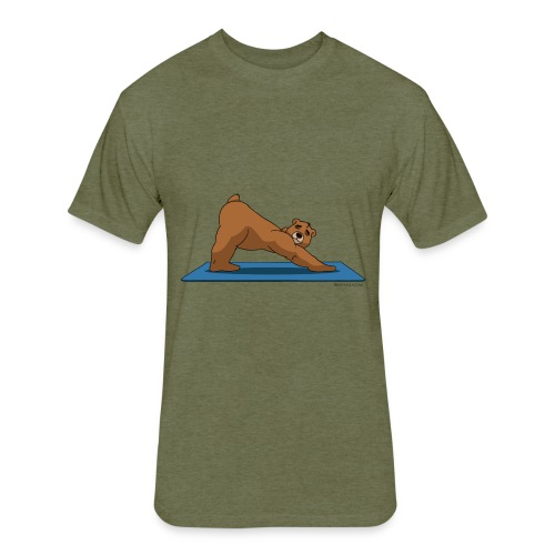 Oh So Yoga - Downward Dog - Fitted Cotton/Poly T-Shirt by Next Level